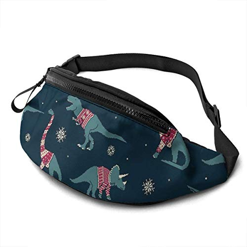 XCNGG Laufende Hüfttasche Freizeit Hüfttasche Hüfttasche Mode Hüfttasche Dinos in Sweaters Belt Bag 13.7 X 5.5 inch Unisex Running Waist Packs Fashion Casual Waist Bag, Can Hold Small Objects Such As