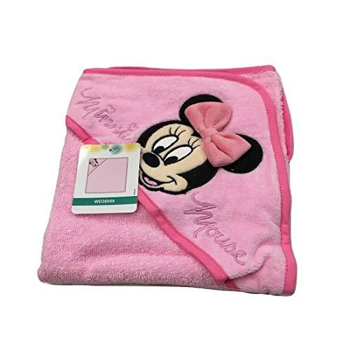 Accappatoio triangolo bimba neonato spugna Minnie Disney baby TU