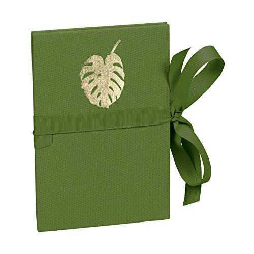 Semikolon (359076) Leporello Classico Monstera irish (dunkel-grün) - Für 14 Bildern im Format 10 x 15 cm - Ziehharmonika-Fotobuch - 12,2 x 17,7 cm