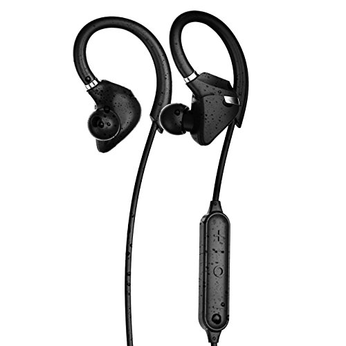VULKKANO Sportive - Auriculares Deportivos Premium Bluetooth. Resistentes Agua y Sudor para Deporte y Gimnasio. Manos Libres iPhone, Samsung, Tablet, iPad (IPX7, Batería 9 Horas)