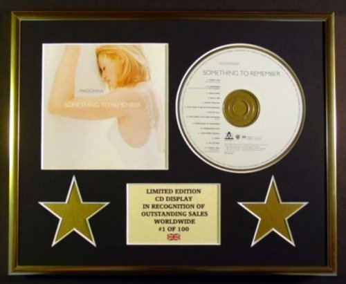 Madonna/CD-Display, Limitierte Auflage, Aufschrift Something to Remember