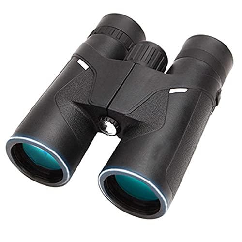 Binoculares compactos 8x42, telescopio binoculares portátiles e impermeables BAK4, ocular grancon visión nocturna con poca luz, a prueba niebla/impermeable, ideal para observación aves, viajes, obse