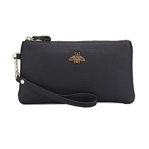 Appearance and Practical Coexistence: The clutch bag is designed with high quality leather with premium hardware, soft and surprise touch. What's more, it must be your capable assistant to organize all items you carry around. Perfect Size to Organize...