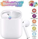 Auricolare Bluetooth Senza Fili, Cuffie Wireless Stereo 3D with IPX8 Impermeabile, Accoppiamento Automatico Per Chiamate Binaurali, Adatto Compatibile con iPhone/Android/Apple AirPods