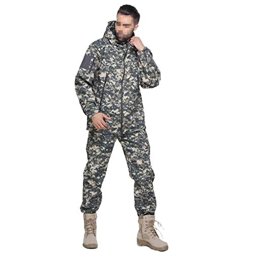 MKJYDM Camouflage Training, Hidden Hunting, Sports, Mountaineering, Men's Air Gun, Paintball Shirts And Pants Camouflage (Size : XXXL)