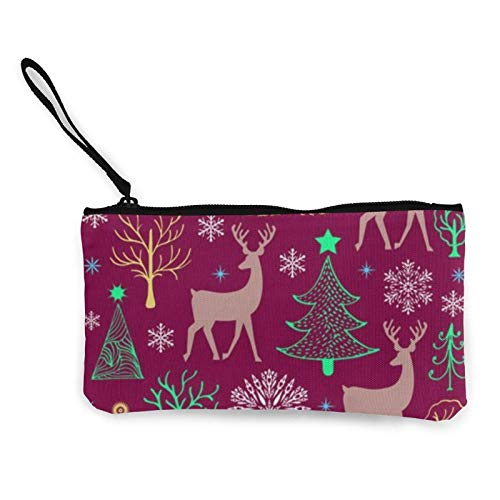 XCNGG Porte-Monnaie Sac de Rangement Shell Christmas Pattern Canvas Coin Purse with Zipper Coin Wallet Multi-Function Small Purse Cosmetic Bags for Women Men