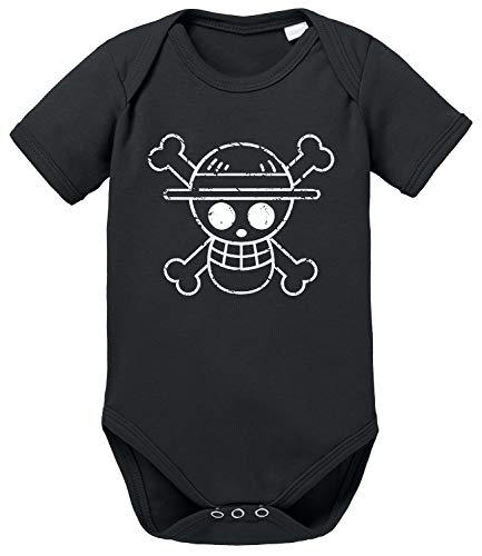 Logo Bruch One Baby Piece Ruffy Strampler Bio Baumwolle Body Jungen & Mädchen 0-12 Monate, Größe:56/0-2 Monate, Farbe:Schwarz