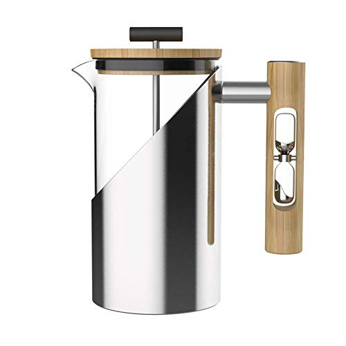 StramperPress Ceramic French Press with Hour Glass Timer