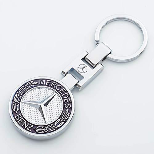 PRXD Nouvelle Voiture Porte-clés 3D métal emblème Pendentif Voiture Logo Porte-clés pour BMW Mercedes Benz VW Audi (avec boîte-Cadeau) (Solide)