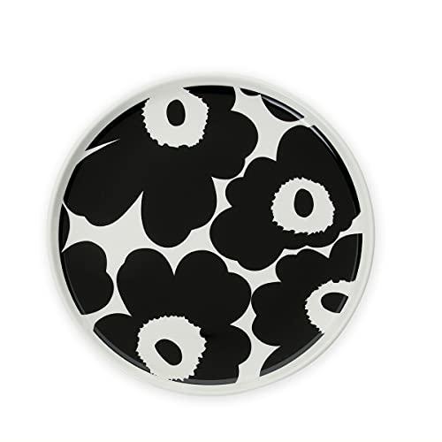 マリメッコ(marimekko) ウニッコ プレート 20cm ホワイト/ブラック UNIKKO 70763-190 [並行輸入品]