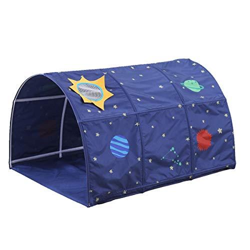 Huntfgold Children's Tunnel for 90-100cm in Width Loft Bed Bunk Tent, Navy Blue