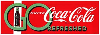 Go Drink Coke Stretched Canvas 12x32 Inch
