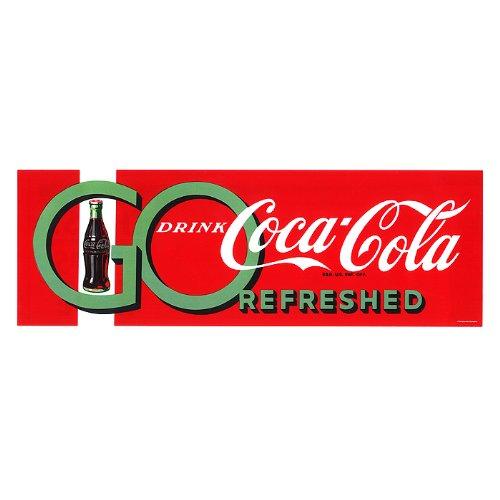 Trademark Go Drink Coke Lienzo estirado 30,5 x 81,2 cm