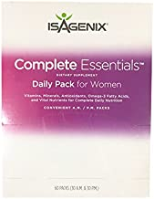 Isagenix® Complete Essentials Dietary Supplement Daily Pack for Women (60 Packs, 30 A.M. & 30 P.M.)