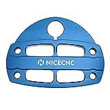 NICECNC Azul Abrazadera de Manillar con Protector de Llave Compatible con Yamaha Raptor 700R 700 YFM700 YFM700R YFM700RSE YFM700RSP YFM700RYR