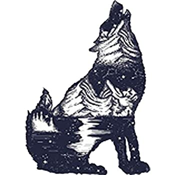 4 Tall Rainbow Ombre Vinyl Decal Sticker Mountain Forest Landscape Pen Art in Fox Silhouette Shinobi Stickers