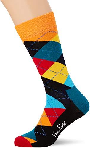 Happy Socks Herren Argyle Socken, Mehrfarbig (Multicolour 010), 7/10 (Herstellergröße: 41-46)