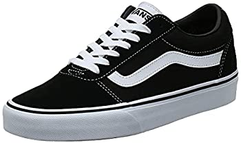 Vans Men s Ward Sneaker Black Suede Canvas Black White C24 10.5