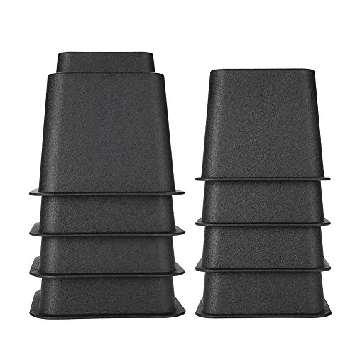 Betterhöhung, Möbelerhöhung, verstellbar, breite Füße, 4 Stück x 12,7 cm & 4 Stück x 7,6 cm (schwarz)