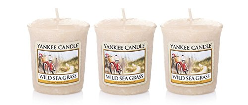 Lot of 3 Yankee Candle WILD SEA GRASS Sampler Votive Candles 1.75 oz