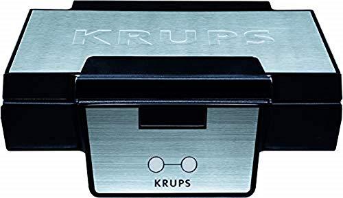 Krups FDK 251 - Gofrera, 850 W, acero inoxidable, negro/gris