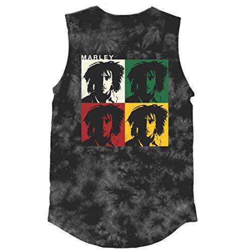 Bob Marley Faces Tie Dye T-Shirt Gray