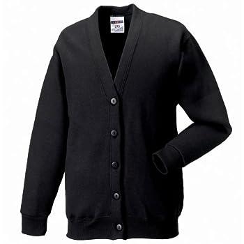 Russell Workwear Mens Sweatshirt Cardigan  XL   Black