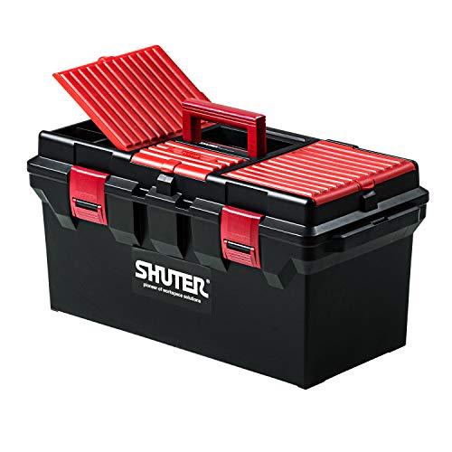 イーサプライ 工具箱 ツールボックス 大型 22L 収納ボックス 小物収納 取っ手 トレー付き プロ仕様 耐荷重30kg 幅56cm EEX-TBX05