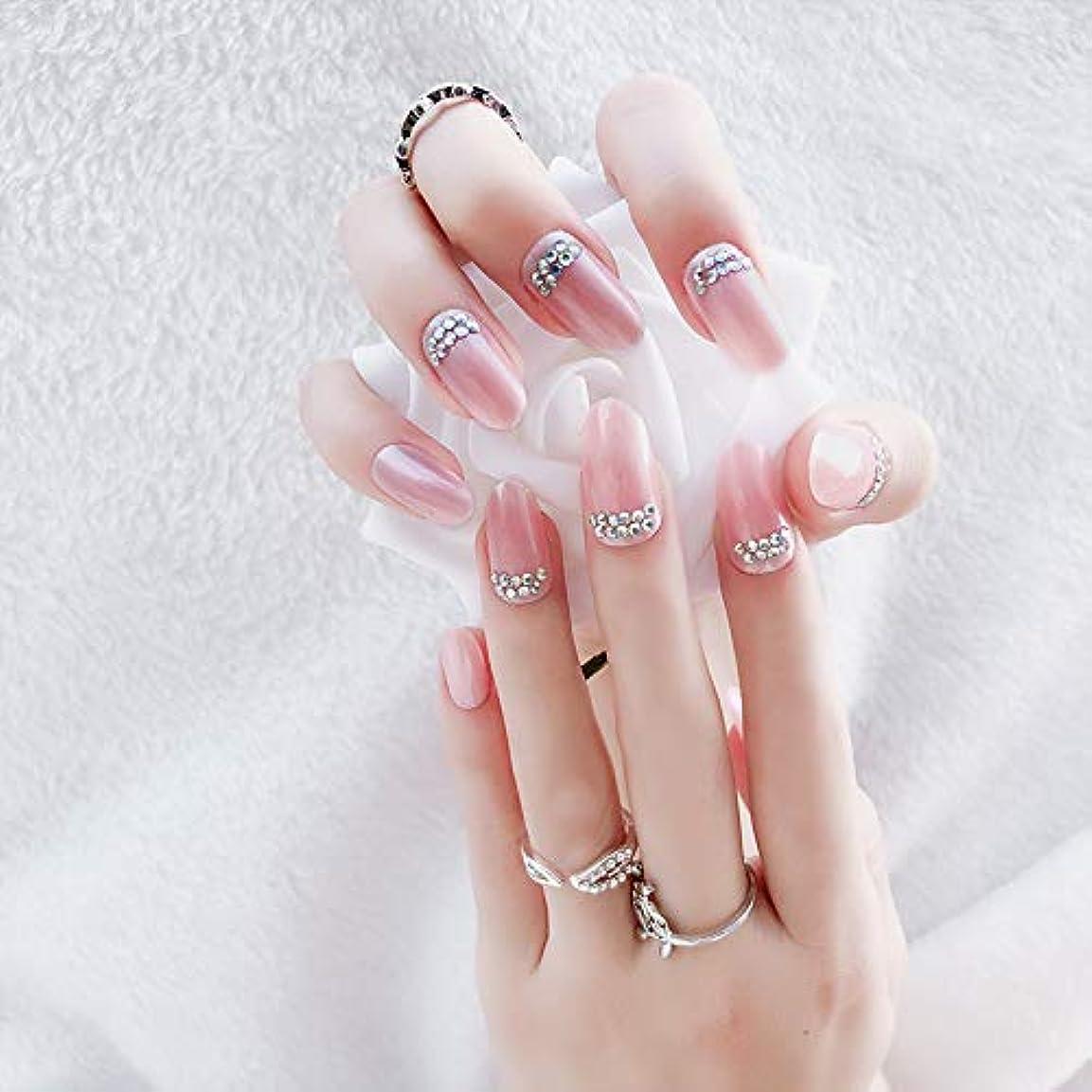 うそつき明らかにフィヨルド花嫁ネイル 手作りネイルチップ 和装 ネイル 24枚入 結婚式、パーティー、二次会など 可愛い優雅ネイル 人造ダイヤモンドの装飾 (A20)