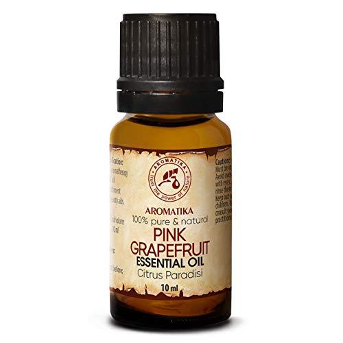 Pink Pomelo Aceite Esencial 10ml - 100% Puro & Natural - Citrus Paradisi - Sudáfrica - para Buen Sueño - Belleza - Aromaterapia - Spa - Difusor - Lámpara de Aroma - Fragancia de Habitación - Masaje