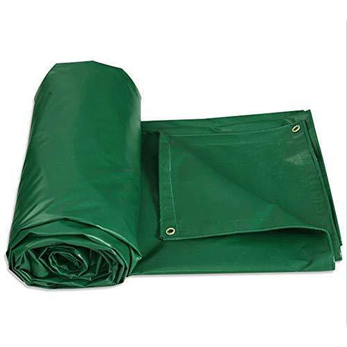 LIYG Verdicktes schwere Plane des regensicheren Tuches Wilde kampierende wasserdichte Plane (Color : Green, Size : 1.85x1.4m)