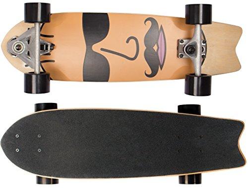 Sportplus Ezy Carver Board The Face, Skateboard Bambino, Multicolore, Taglia Unica