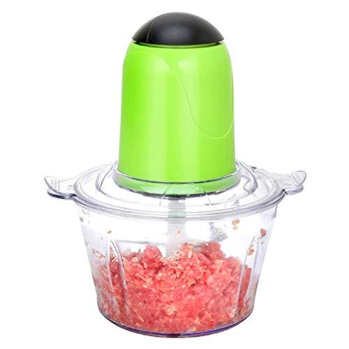 XFENG 2L Multifonction Viande Blender électrique Robot culinaire Hachoir Machine for la Viande, Les légumes, Les Fruits et Les Noix, Accessoires de Cuisine, Vert