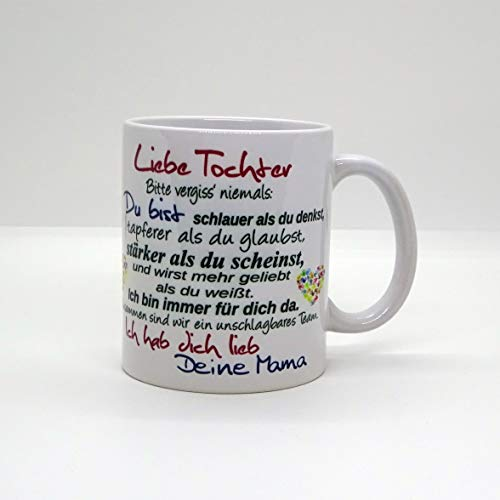Kaffeebecher ~ Tasse - Liebe Tochter ~ Deine Mama ~ Weihnachten Geschenk