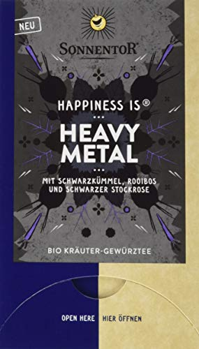 Sonnentor Bio Heavy Metal Tee Happiness is, 3er Pack (3 x 27 g)