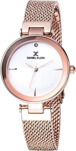Daniel Klein Analog White Dial Women's Watch-DK11903-2