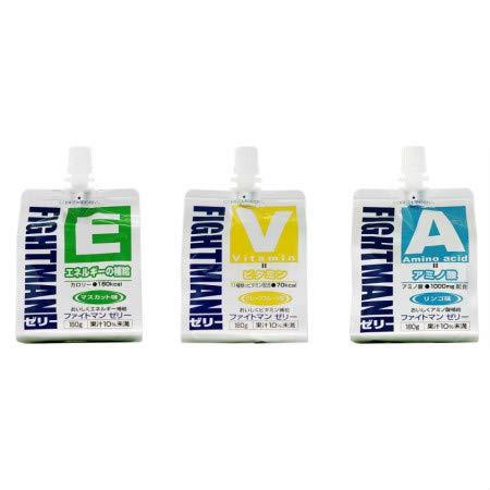 【各10個セット】ファイトマン ゼリー アミノ酸&ビタミン&エネルギー(各180g)