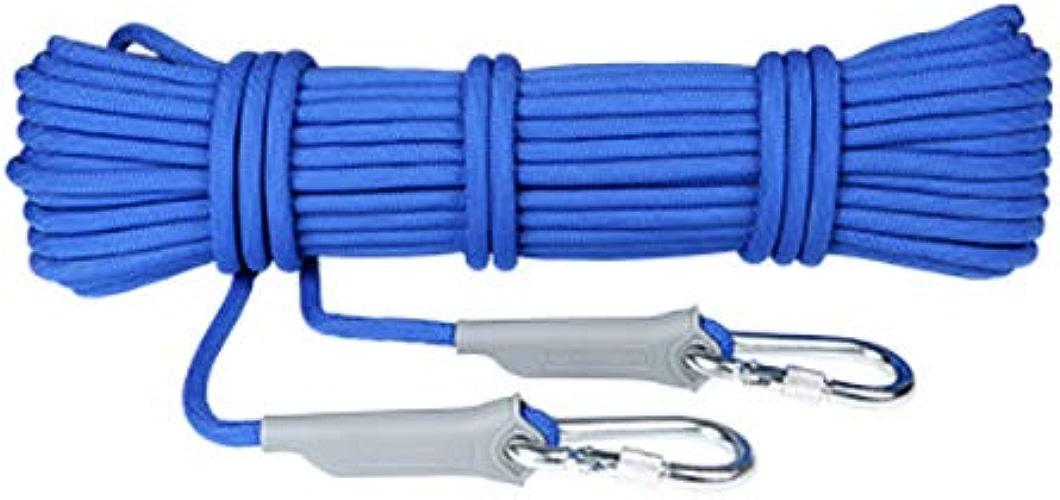 Cordes La corde d'escalade extérieure en polypropylène de 9,5 mm peut supporter une corde de sécurité optionnelle de 1 200 kg Orange, bleue, résistante à l'usure et facile à transporter équipement d'e