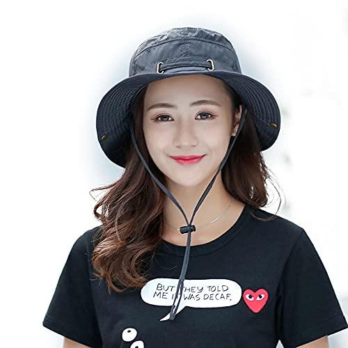 HaiMa Gorra Táctica Al Aire Libre Cubo Sombrero Cordón Plegable Portátil Escalada Sun Protection Floppy Sombrero - Vino Tinto