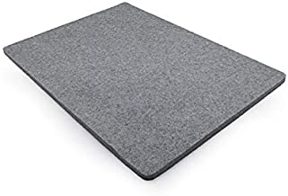 Wool Ironing Mat-Pad Made with 100% New Zealand Wool Pressing Pad Great for Traveling and Quilting Holds Heat When Pressing to Provide Professional Results Ironing Board Cover (Gray, 8X8)