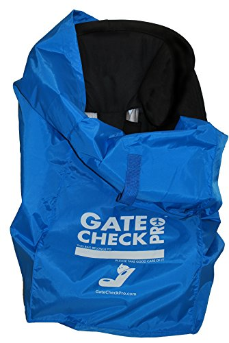 Gate Check PRO Reistas voor autostoelen | Ultra duurzaam en lichtgewicht ballistisch nylon | One Size fits Most | Inc. Baby, peuter & All-in-one converteerbare modellen | Perfect voor stressvrij reizen met kinderen One Size Fits Most - Large Blauw
