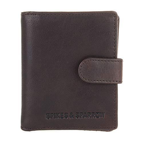 Spikes & Sparrow Billfold Portemonnee RFID Donker Bruin