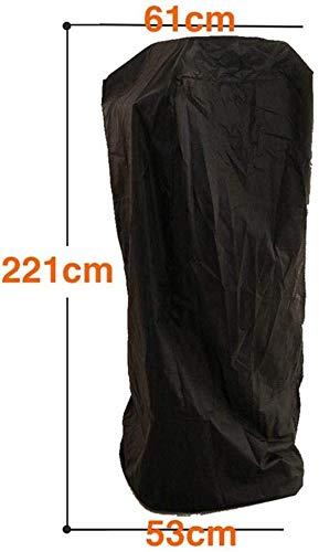 Meubels stofhoes verwarming afdekking waterdicht, hittepaddenstoel heavy waterdichte veranda cover, waterdichte polyestervezel, opklapbaar ontwerp, voor piramid torch verwarmingspaddenstoel, 221X53X61cm YUXO