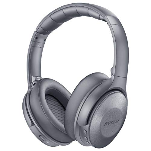 Mpow H17 Active Noise Cancelling Headphones, Bluetooth Headphones Over Ear with Quick Charge 45H Playtime, Soft Genuine Protein Earpads, Hi-Fi Deep Bass, CVC 6.0 Mic, for TV Travel Cellphone