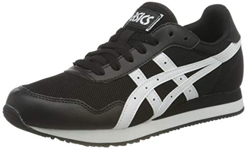 ASICS Mens Tiger Runner Sneaker, Black/White,46 EU