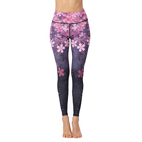 Dosige yogabroek voor dans, bedrukt, fitness, voor dames, yoga, dames, joggingbroek, rekbaar Small Paars