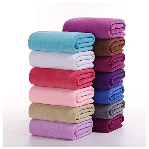 Toallas de baño, toallas de playa, baño de microfibra espesada, absorbente y de secado rápido naranja
