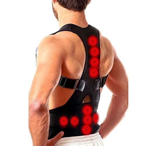 JMung\'S Rückenstabilisator für Damen & Herren zur Haltungskorrektur, Magnetische Orthopädie Haltungstrainer Lindern Schmerzen bei Schmerzen & hängenden Schultern,Schwarz,XL