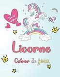 Licorne Cahier de jeux: Un livre amusant avec plus de 80 activités (coloriage, labyrinthes, comptage, dessin et plus encore!) | pour les enfants (4-8 9-12)