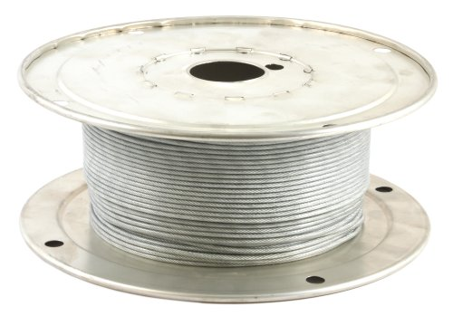 Forney 70450 Wire Rope, Vinyl Coated Aircraft Cable, 500-Feet-by-1/16-Inch thru 3/32-Inch